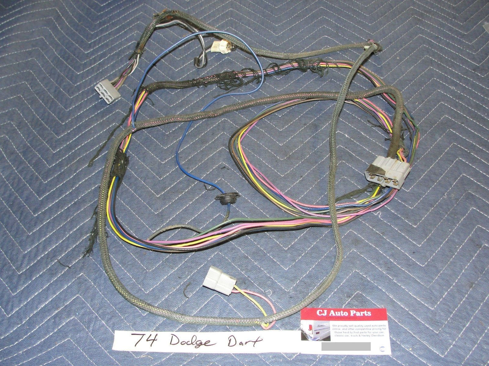 Dodge 74 Dodge Dart Plymouth COMPLETE FRONT TO REAR WIRING WIRE – Dodge Dart Wiring Harness